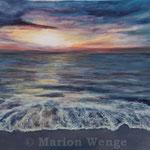 Sonnenuntergang (1) - Acryl auf Leinwand - 40x50 cm - 2014 (in Privatbesitz)