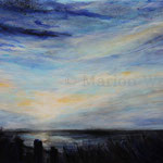Sonnenuntergang (7) - Acryl auf Leinwand - 50x70 cm - 2017 (in Privatbesitz)