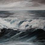 Brandung (3) - Acryl auf Leinwand - 60x100 cm - 2014 (in Privatbesitz)