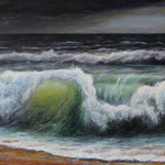 Brandung (9) - Acryl auf Leinwand - 80x120 cm - 2017