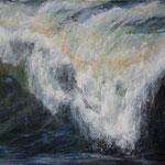 Welle (9) - Acryl auf Leinwand - 50x70 cm - 2016