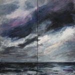 Am Meer (6) - Acryl auf Leinwand - 2x40x120 cm - 2014 (in Privatbesitz)