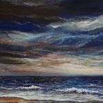 Himmel über dem Meer (3) - Acryl auf Leinwand - 40x50 cm - 2017