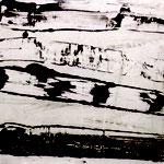 OT, Mischtechnik auf Papier, circa A2-Format, 1998