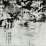 """""""Kühlergrill"""", Mischtechnik auf Papier/Leinwand,40x50cm, 2005"""