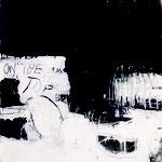 """""""Monster"""", Mischtechnik auf Leinwand, 150x120cm, 1995"""