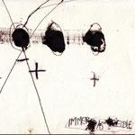 """""""Immer Dasselbe"""", Mischtechnik auf Papier, circa A4-Format, 1992"""