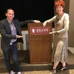 With speaker, Dr. Kevin Snyder, at Elon University