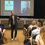 Speaker, Dr. Kevin Snyder, with the Officer Leadership Academy (OLA) at Elon University