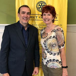 With speaker, Scott Francis, at the MeckSouth Rotary