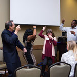 Four willing audience participants with Scott Francis at MPI –  November 2016