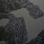 Alpentauen. Öl auf Lwd. 150x150