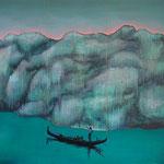 Oh Glacier mio! Öl, Acryl auf Lwd. 150x180