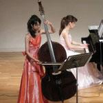 ピアノ&コントラバスのお二人。美しい...(´∀`)