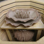Loading the bisque kiln -- a tricky process with fragile pieces