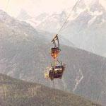 5 Tonnen Materialseilbahn (doppelspurig), Visperterminen VS, 1991