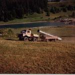 Montage 4-er Sesselbahn Brigels - Burleun in Brigels GR, 1992
