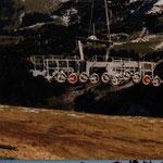 Montage 6-er Sesselbahn Col de Bretaye - Chamossaire, Villars VD, 1999