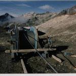 Montage 4-er Sesselbahn Lej da la Pèsch - Fourgla Grischa bei St. Moritz GR, 1994