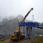 Montage Bergstation Mürren BE, 2009