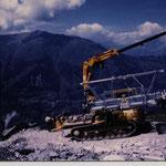Montage 4-er Sesselbahn Hannigalp - Seetalhorn, Grächen VS, 1997