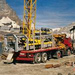 Montage Garagierungshalle Trockener Steg, Zermatt