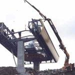 Montage 6-er Sesselbahn La Rasse-Chaux Ronde, Villars VD, 2001