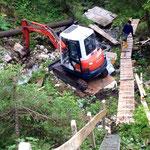 4 Tonnen Materialseilbahn, Halblech DE, 2014
