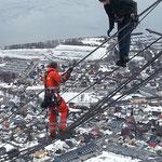 Seilwechsel Fjellheisen, Tromsö NOR, 2013