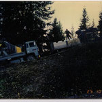 Transporte 4-er Sesselbahn Wallegg, Lenk BE, 1989