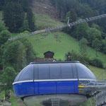 Montage 10-er Gondelbahn Stand-Xpress, Lenk BE, 2014