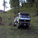 Montage 4-er Sesselbahn Runcs - Waldstafel, Tschiertschen GR, 2001