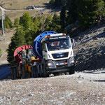 Geländetransport Förderseil 4-CLD Plattja-Seetalhorn, Grächen VS, 2017