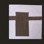 Fundamente; Leinwand, Zement; 30 x 30 cm