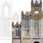 Bestandsaufnahme / Fotodokumentation und Zeichnung Westseite Westgiebel