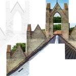 Bestandsaufnahme / Fotodokumentation und Zeichnung Ostseite Westgiebel
