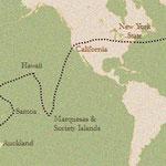 Voyages de Stevenson et Fanny