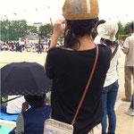 運動会の応援、PTA係のお母さんにお財布ショルダーが便利!