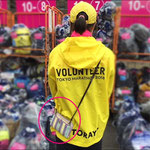 東京マラソンのボランティアにお財布ショルダーが便利