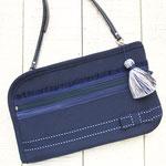お財布ショルダー【ラージサイズ】グログラン・ネイビー