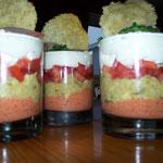 verrines tricolore
