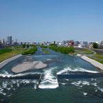 春の豊平川【札幌市】