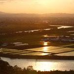 国見峠から石狩川夕景【深川市】