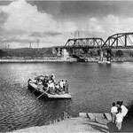 石狩川橋改修で渡し船