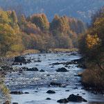 秋の流れ 空知川【富良野市】