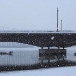 雪降る茨戸川【石狩市】
