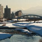 冬日和 豊平川【札幌市】