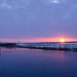 雲間からの太陽 千歳川【恵庭市】