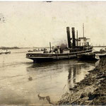石狩川を航行する汽船