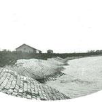 単床ブロックによる護岸状況